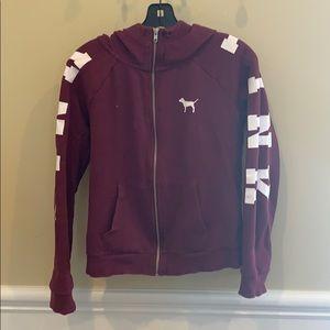 Pink zip up jacket